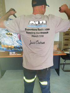 Jaco Coetzee awarded for great team leader for March